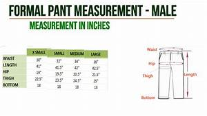 Men U0026 39 S Dress Measurement Chart For Pant  U0026 Shirt