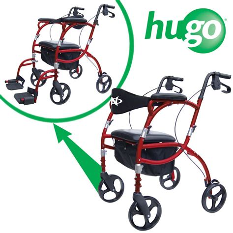 hugo 174 navigator combination rollator and transport chair