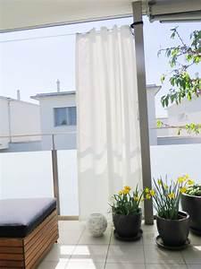 Vorhang Für Balkon : outdoor vorhang santorini 138cm breit fertigvorhang weiss ~ Watch28wear.com Haus und Dekorationen