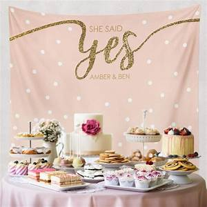 she said yes bridal shower decorations engagement decor With wedding shower decor