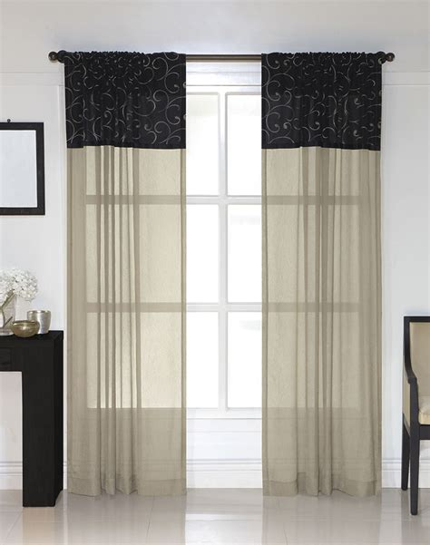 westgate embroidered pole top curtain panel curtainworks