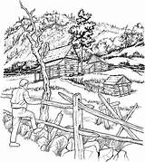 Coloring Adult Cabins Snowy Pages Books Cabin Colouring Architecture sketch template