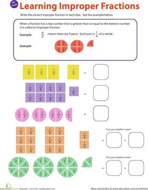 fractions  worksheets  pinterest