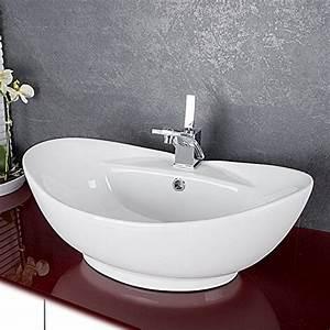 Waschbecken Oval Aufsatz : design keramik waschschale oval aufsatz waschbecken waschtisch waschplatz 727 ~ Orissabook.com Haus und Dekorationen