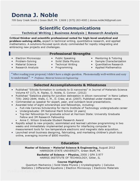 technical resume examples  template