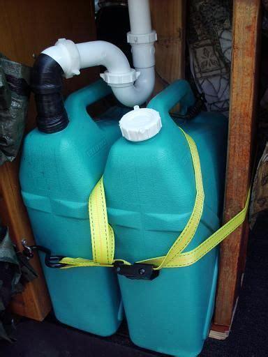 camper van sink  manual pump campervan interior van