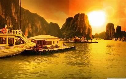 Bay Vietnam Ha Desktop Wide Background