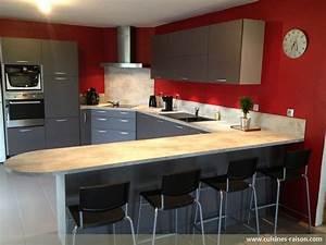 Table Cuisine Moderne : cuisine en u stratifie clair cuisines raison ~ Teatrodelosmanantiales.com Idées de Décoration