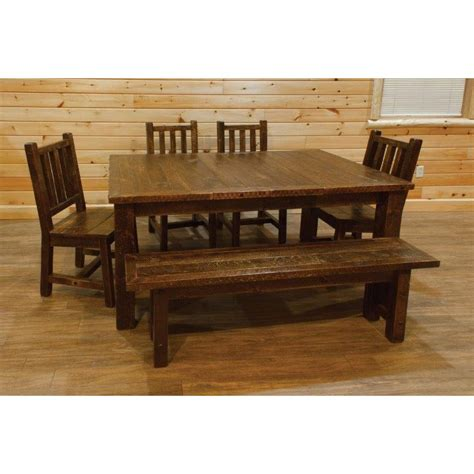 5 foot kitchen table barn wood style extension dining table set