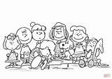 Coloring Peanuts Pages Characters Printable Games Drawing sketch template