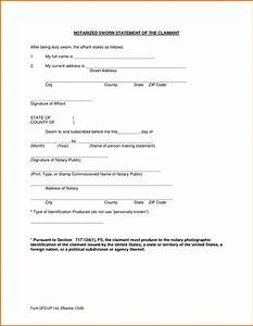 8 sworn statement templatereference letters words With letter of conformance template