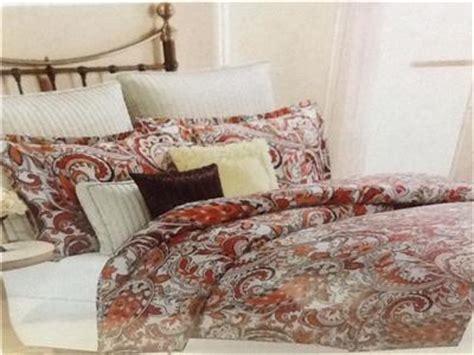 bella lux full queen paisley duvet cover set red orange