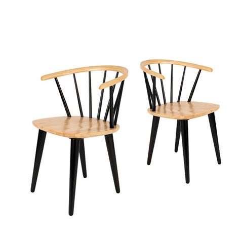 chaises retro lot de 2 chaises style scandinave 50 39 s en bois gee by