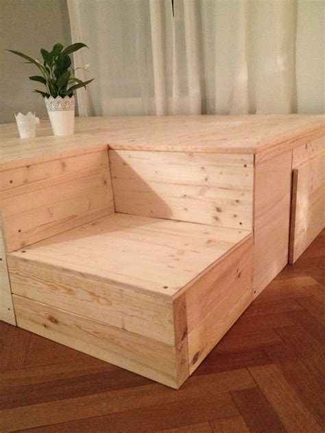 Bett Auf Hohem Podest Roomido Diy Podest My Home Tiny Houses Bedrooms And Flat