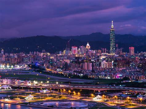 purple city twilight scenery hd wallpapers