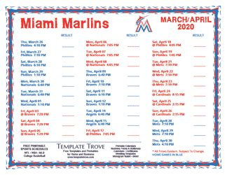 printable  miami marlins schedule