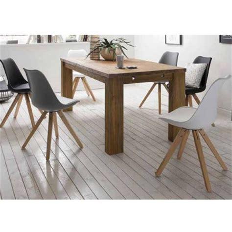 chaise blanche pied en bois chaise scandinave blanche pieds bois carrés sur cdc design