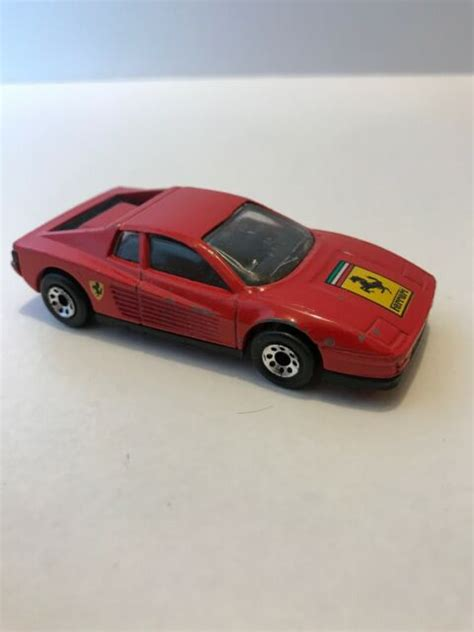 With 500 units this v12 engine car is a must have car for every car enthusiast. Matchbox Ferrari Testarossa 1986 80s Race Car Macau Red Nice | eBay