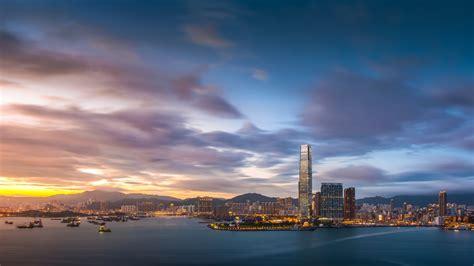 Hong Kong Sunset 1280 X 720 Hdtv 720p Wallpaper