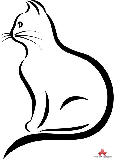 cat outline cliparts   clip art