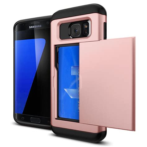 credit card holder shockproof wallet case cover for samsung galaxy s7 edge s8 ebay