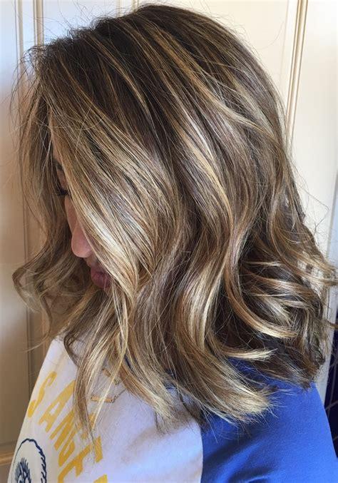 side  blonde wbrunette champagne highlights melted