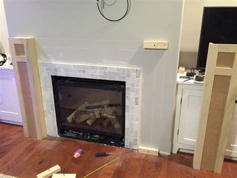 build fireplace mantel how to build a built in part 2 of 3 the fireplace mantel