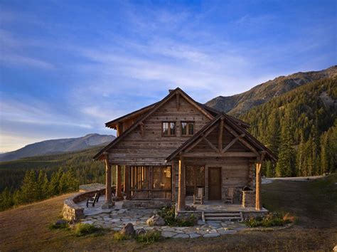 rustic mountain retreat offers sweeping views over big sky country
