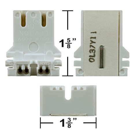 Shunted Bi Pin L Holders by Leviton 13180 U T8 Or T12 Bi Pin Socket U Bend