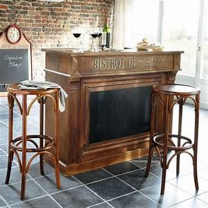 Meuble Bar Salon : meuble de bar en manguier massif restaurant la colonne ~ Voncanada.com Idées de Décoration