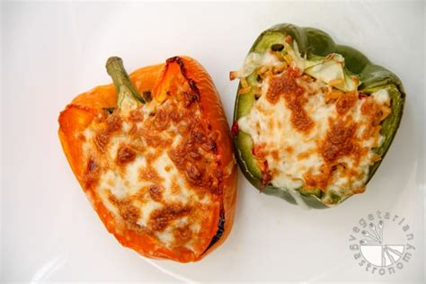 stuffed peppers with rice brown rice stuffed bell peppers gluten free contains dairy vegetarian gastronomy