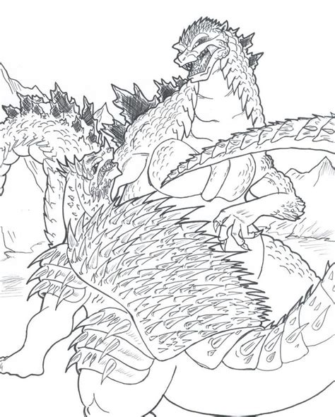 godzilla  zilla pages coloring pages