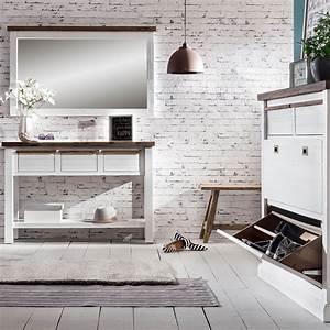 Garderobe Akazie Massiv : wandgarderobe loft in akazie massiv wei braun mit hutablage ~ Sanjose-hotels-ca.com Haus und Dekorationen
