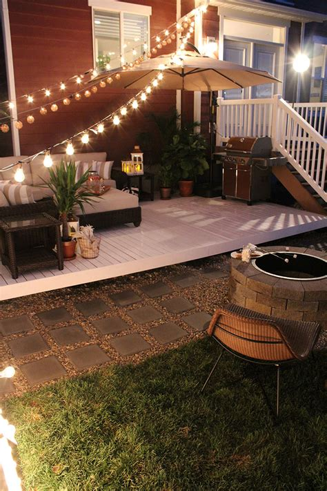 build a patio how to build a simple diy deck on a budget