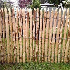 Piquet En Bois Pour Cloture : cloture rondin pas cher ~ Farleysfitness.com Idées de Décoration