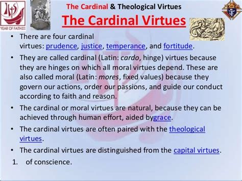 11 Oct 2013 Cardinal And Theological Virtues