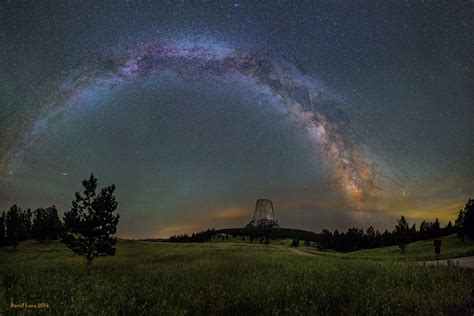 The Milky Way Arching Over Devils Tower Devil Galaxies