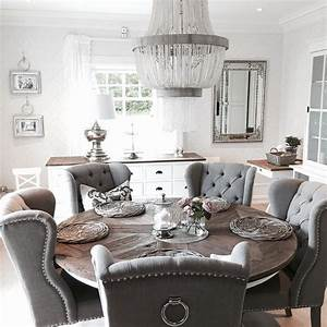 Dining room round table best 25 round dining tables ideas for Dining room design round table