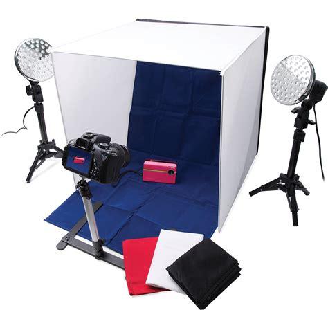 photo studio lighting kit polaroid pro table top photo studio kit plpsled b h photo