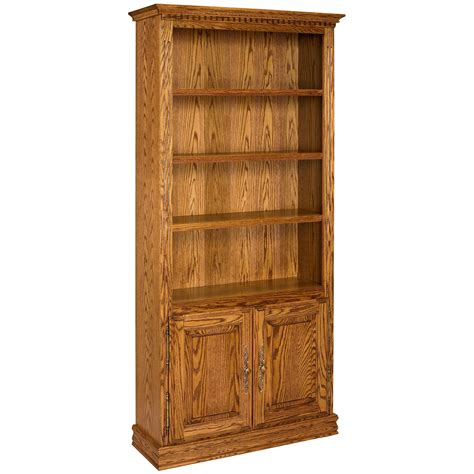 Unfinished Bookcases With Doors by A E Solid Oak Britannia Wood Bookcase With Doors