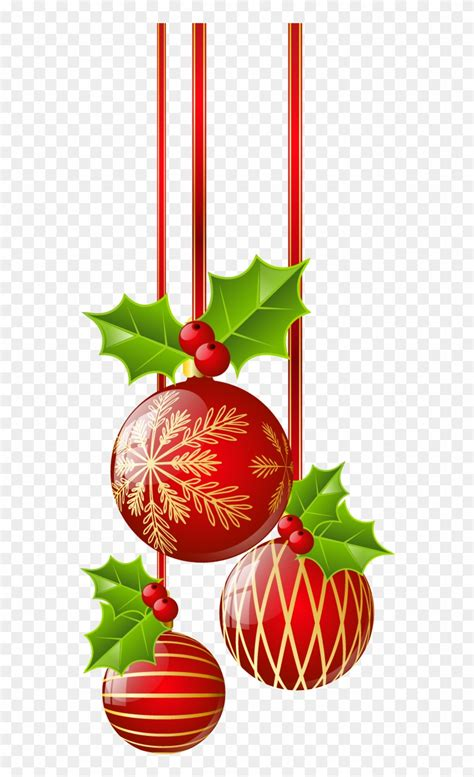 christmas red ornaments png clipart