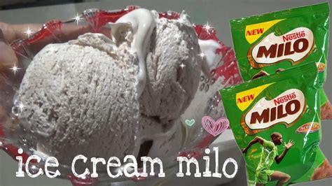 Tuang susu segar dan gula pasir ke dalam panci, setelah itu. cara membuat ice cream MILO - YouTube