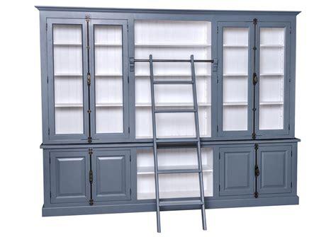 Chaise De Bureau Anglais - acheter votre bibliothèque en pin massif avec échelle et