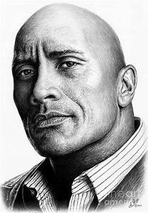 Dwayne The Rock Johnson Drawing by Andrew Read