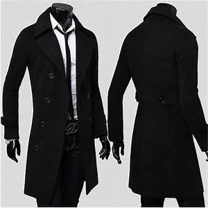 Trench Coat Homme Long : trench long homme noir l beige achat vente manteau ~ Nature-et-papiers.com Idées de Décoration