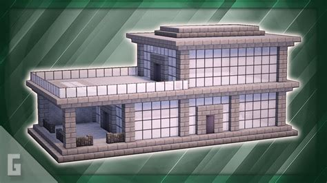minecraft   build  stone modern house  youtube