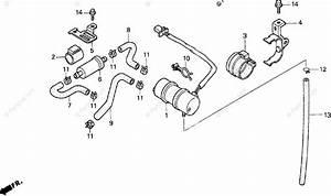 Honda Motorcycle 1993 Oem Parts Diagram For Fuel Pump
