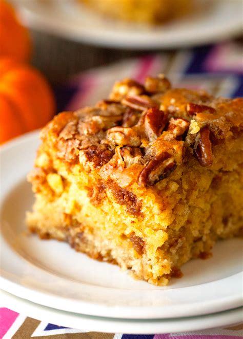 It's the ultimate breakfast and weekend brunch, too! Pumpkin Coffee Cake