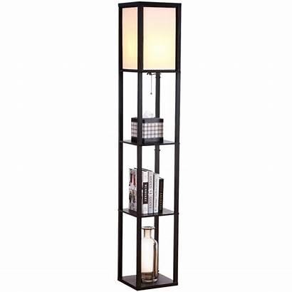 Floor Lamp Shelf Shelves Side Bedroom Skinny