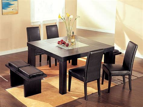 modern dining room sets with bench modern square dining table